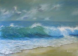 vague plage sable