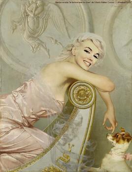 """""""la femme au petit chien"""" de Vittorio Matteo Corcos revisité par Marilyn :)"""