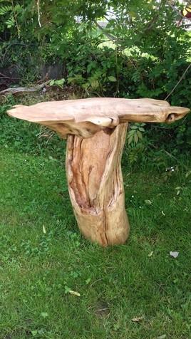 Petite Table Haute en Bois Flotté (Vue n°2)