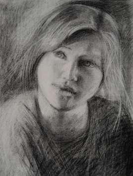 Portrait Fusain 40x30cm