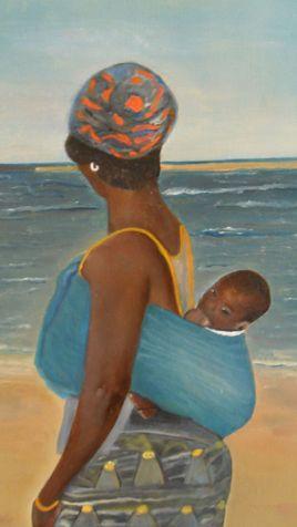 jeune sénégalaise et son bébé