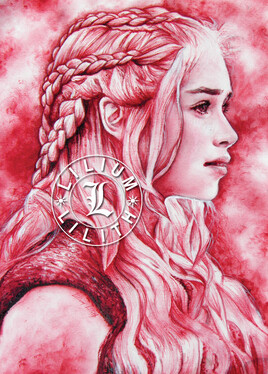 Carte postale. Game of Thrones. Daenerys Targaryen