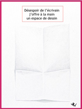 Dessin La page blanche / Drawing The blank page