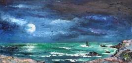 Pleine lune à la pointe du Raz