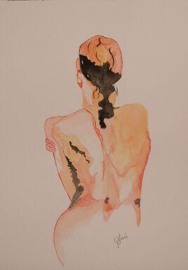 aquarelle nue