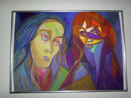 Jésus et Marie - Madeleine sous la pleine lune  .