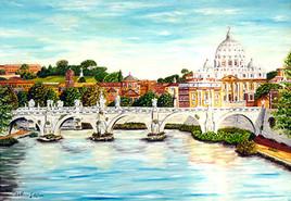 San Pietro visto da Ponte Umberto 16-2000