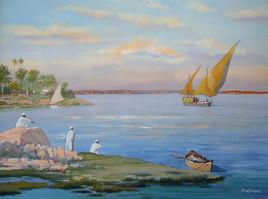 Le soir au bord du Nil