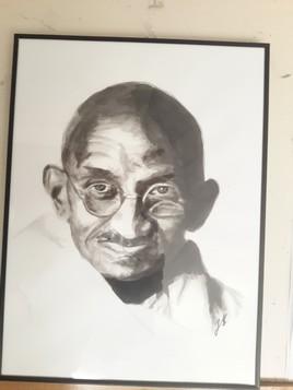 Gandhi (encre de chine)