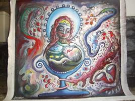La mere et l enfant au vase bleu