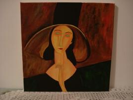 Dame au chapeau (Modigliani)
