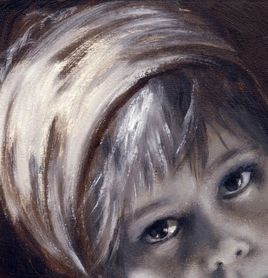 Portrait (huile sur carton)