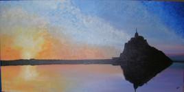 crepuscule sur le Mont St Michel