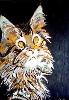 Peinture Le minou