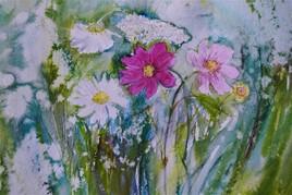 fleurs après la pluie