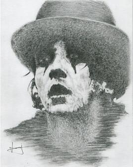 Dessin de portrait de Damien Saez, par PORTRAIT éMOI