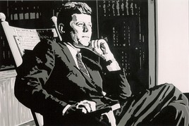 "Peinture JFK "" John Fitzgerald Kennedy """