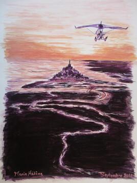 Vol au dessus du Mont Saint Michel