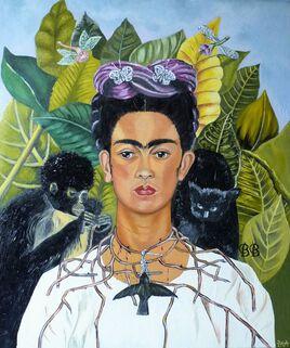 """""""Frida Kahlo, autoportrait au collier d'épines"""""""