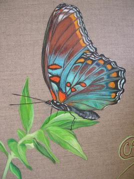 Papillon - Peinture animalière à l'acrylique