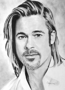 Dessin Brad Pitt