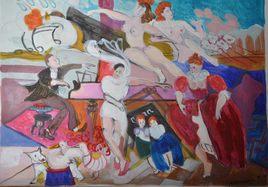 """Peinture """"Tentation de Saint Antoine"""" 3"""