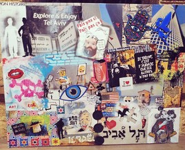 Tel Aviv mixed media
