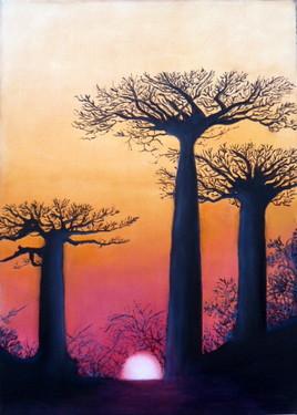 Peinture Coucher de soleil à Madagascar
