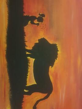 Le lion et la fille