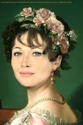 la joueuse de piano de Gonzales Velasquez revisitée par Marlène Jobert ..