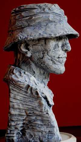 Sculpture Terre cuite patinée 50 cm - N°22TC