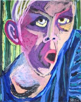 """Ceci n'est pas un autoportrait inspiré de """"Cris"""" de Munk."""