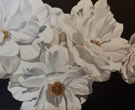 Petites roses blanches
