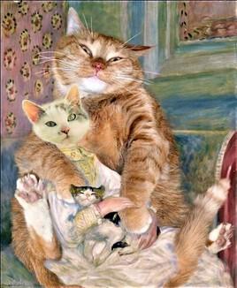 Julie Manet (Mioumiou)  d' Auguste Renoir re-revisité :)
