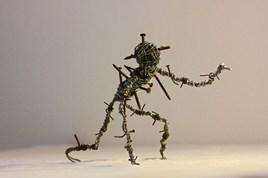 "Sculpture récup art ""Anathema"""