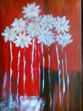 fleurs en  pleurs