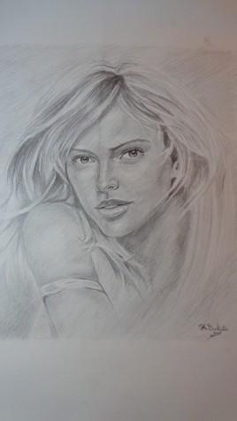 Portrait d'une actrice .