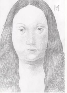 Fille de l' artiste vue de face