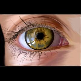 L'œil vert réaliste