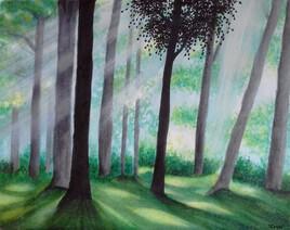 - Forêt de Brocéliande - (aquarelle)