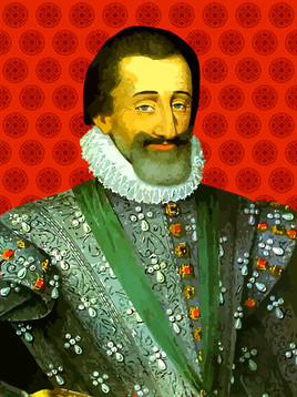 Portrait de Henri IV pop art