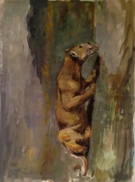 lionne d'après Delacroix