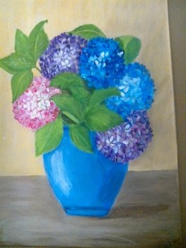 bouquet d hortensias