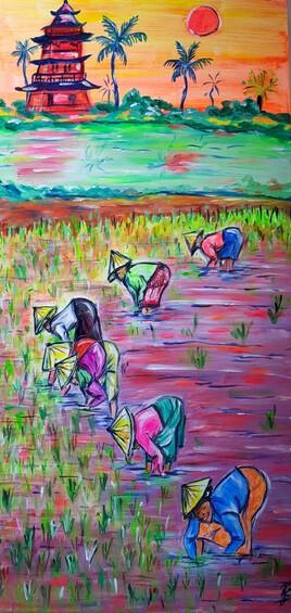 La rizière de couleurs