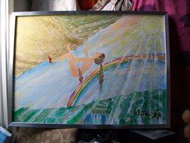 """"""" La grimpe soleil par l'arc en ciel """""""