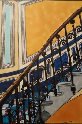 L escalier bleu