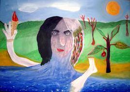Autoportrait au Cornet de Glace