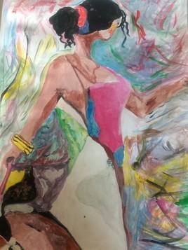 Danseuse au vent