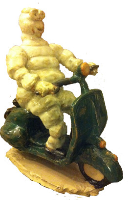 Sculpture Bib en vespa