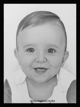 Dessin, portrait de bébé